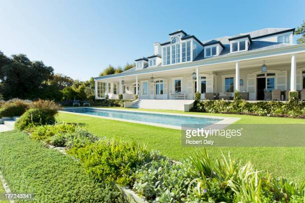 Luxury house facing swimming pool