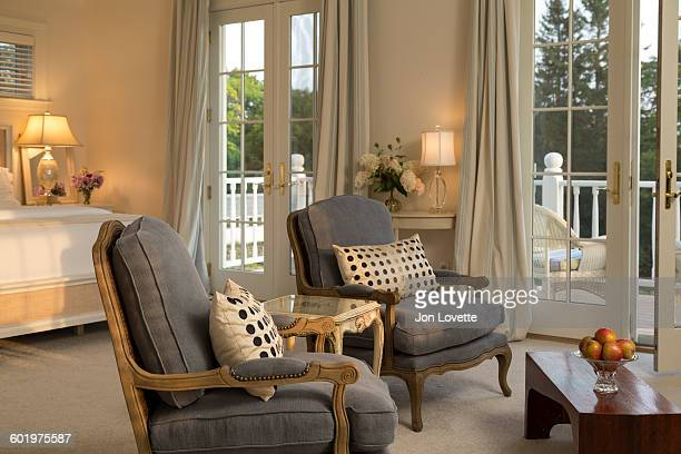 luxury inn suite - moosehead lake stock photos and pictures