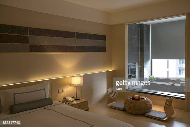 A Luxury Japanese Style Hotel Bedroom