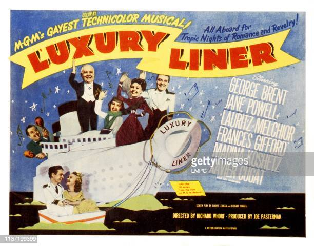 Luxury Liner lobbycard Xavier Cugat Lauritz Melchior Marina Koshetz Frances Gifford George Brent Thomas E Breen Jane Powell 1948
