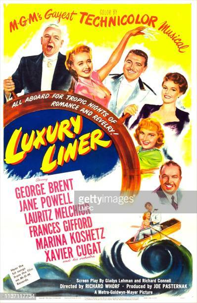 Luxury Liner poster US poster from top Lauritz Melchior Jane Powell George Brent Frances Gifford Marina Koshetz Xavier Cugat 1948