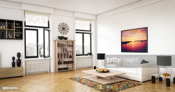 sala de estar de lujo - estante muebles fotografías e imágenes de stock