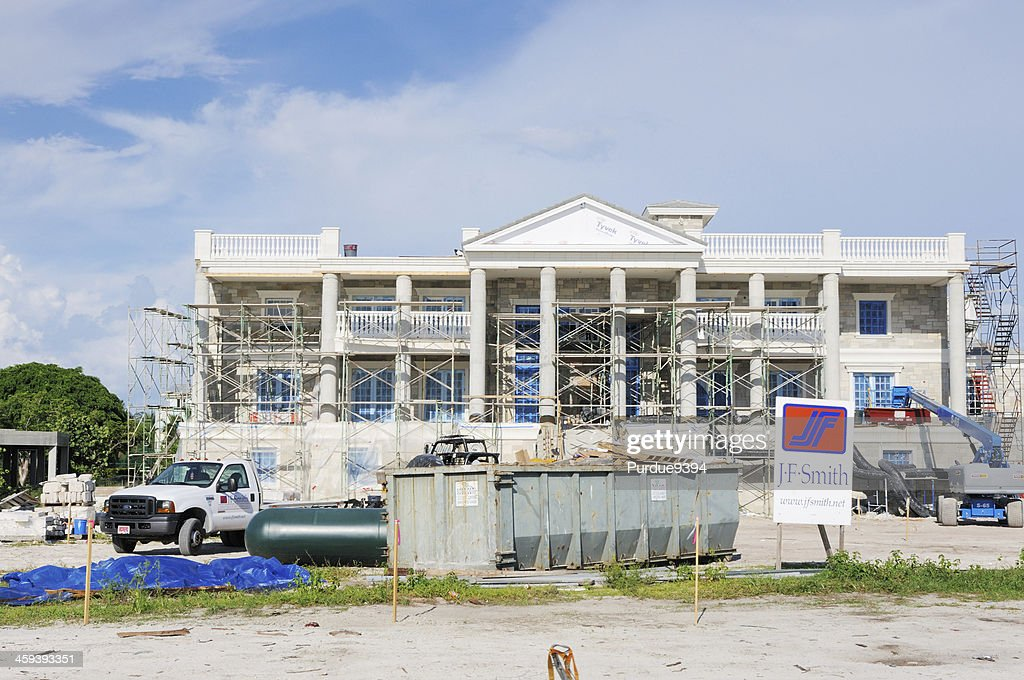 Luxury Mansion Home Under Construction on Captiva Island Florida : Stock Photo
