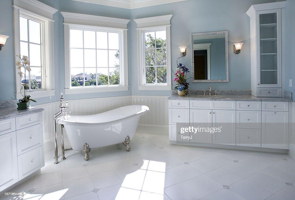 Luxury Master Bathroom with Free Standing Bath Tub : Stock Photo