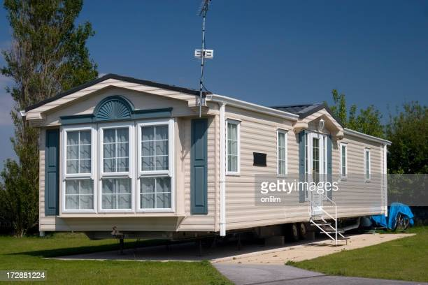 Luxury mobile home slightly elevated