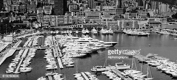 luxury motor yachts monaco - monaco stock pictures, royalty-free photos & images