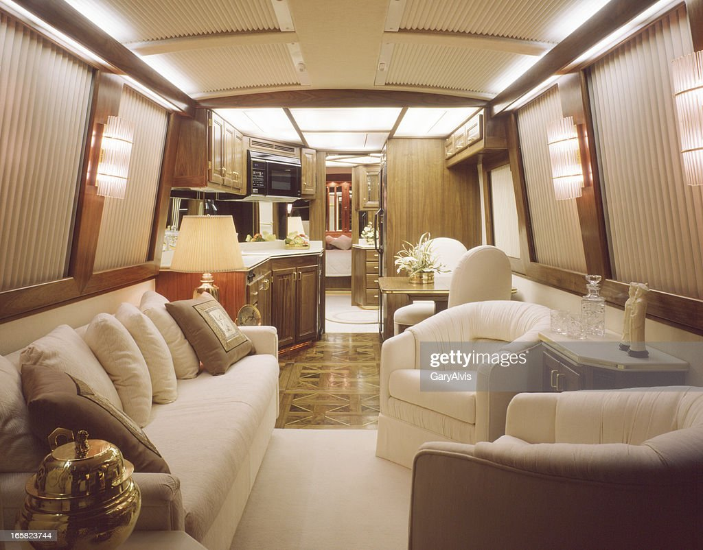 Luxury Motorhome Interior : Stock Photo