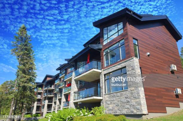 luxury multifamily condos - housing development stock pictures, royalty-free photos & images