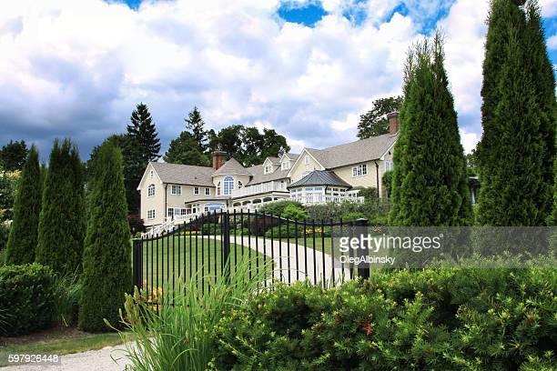 Luxury New England House Among Trees, Kennebunkport, Maine, USA.