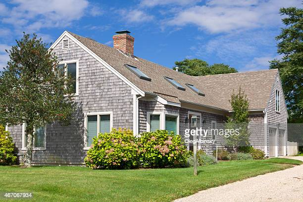 luxury new england house, chatham, cape cod, massachusetts. blue sky. - glass ceiling stock pictures, royalty-free photos & images