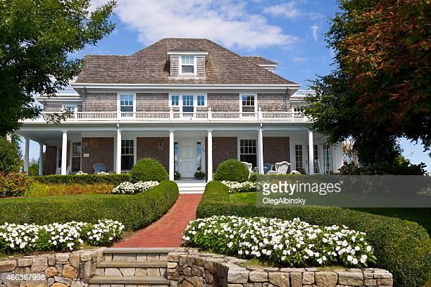 Luxo casa Nova Inglaterra, Chatham, Costa Cape Cod, Massachusetts.
