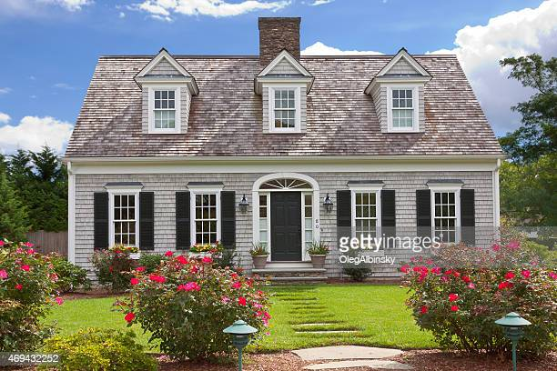 luxury new england house, hyannis, cape cod, massachusetts, usa. - shutter stock pictures, royalty-free photos & images