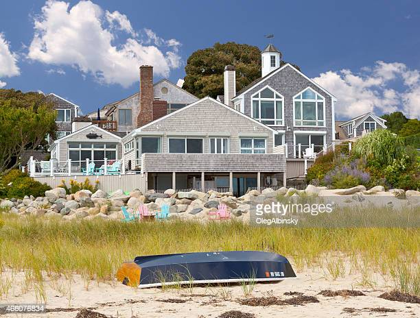 Luxury New England Waterfront House, Chatham, Cape Cod, Massachusetts, USA.