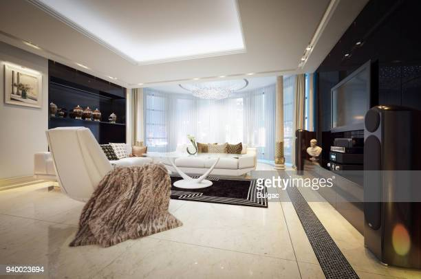 luxury penthouse - penthouse stock pictures, royalty-free photos & images