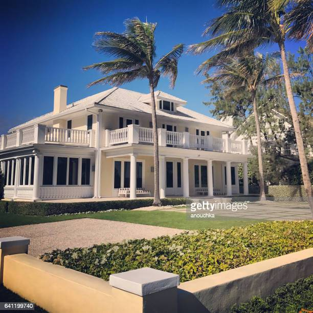 luxe privéhuis in palm beach, florida, vsa - palm beach county stockfoto's en -beelden
