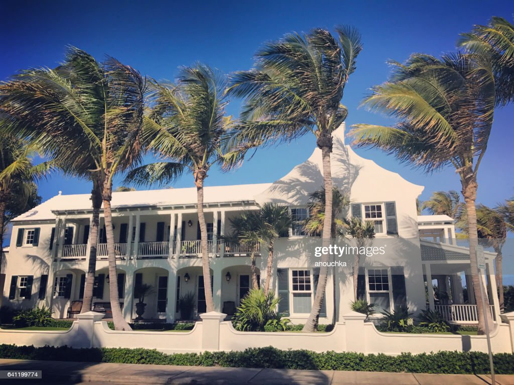 Luxury Private house in Palm Beach, Florida, USA : Stock Photo
