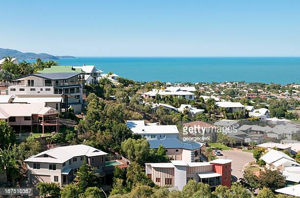 luxury properties by the sea - townsville queensland stock pictures, royalty-free photos & images