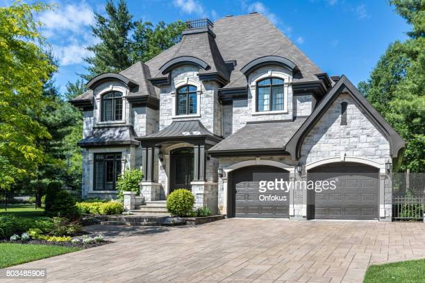 luxury property on sunny day of summer - luxury stock pictures, royalty-free photos & images