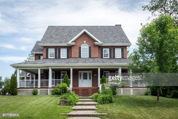 luxury property on sunny day of summer - facade stock pictures, royalty-free photos & images