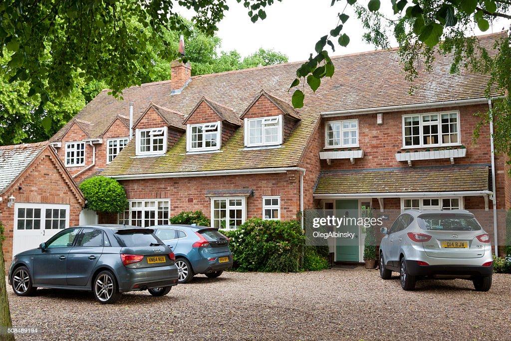 Luxury Red Brick English House, Stratford-upon-Avon, Warwickshire, England, UK. : Stock Photo