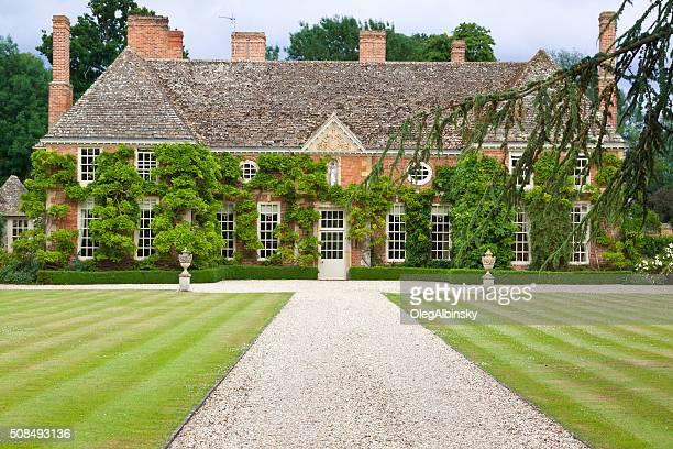 Luxury Red Brick English House, Stratford-upon-Avon, Warwickshire, England, UK.