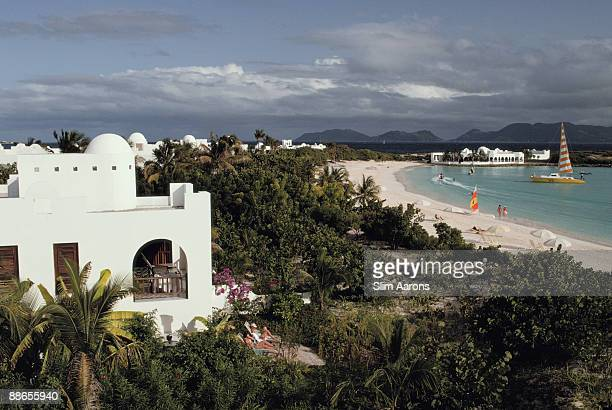 A luxury resort on the island of Anguilla in the West Indies January 1992