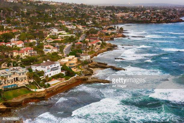 luxury seaside homes of san diego - la jolla stock pictures, royalty-free photos & images