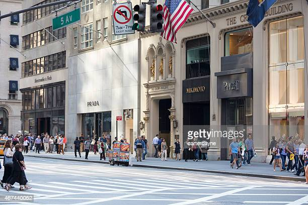 Luxury Shopping on 5th Avenue in New York City, USA