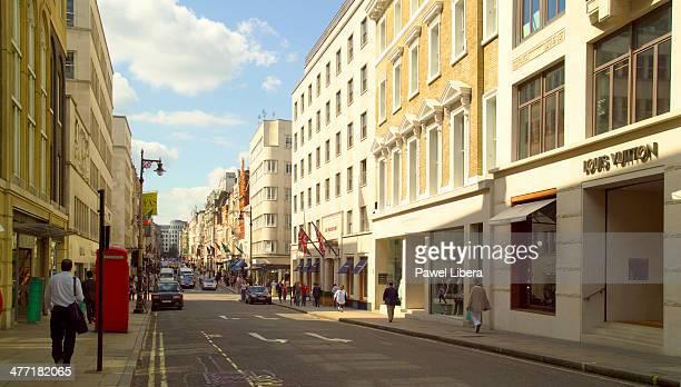 Luxury shops in Bond Street in London's Mayfair area