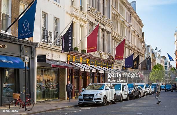 Luxury shops in Bond Street Mayfair