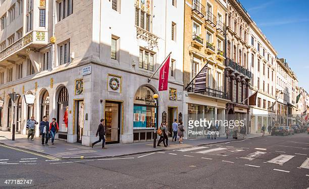Luxury shops in Old Bond Street in London's Mayfair area