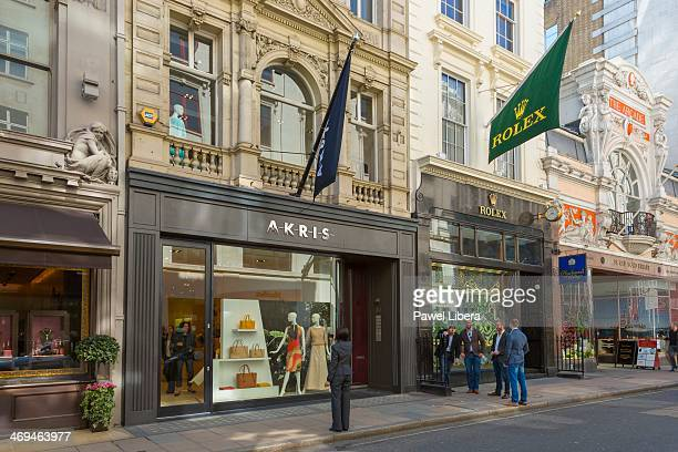 Luxury shops in Old Bond Street in London's Mayfair