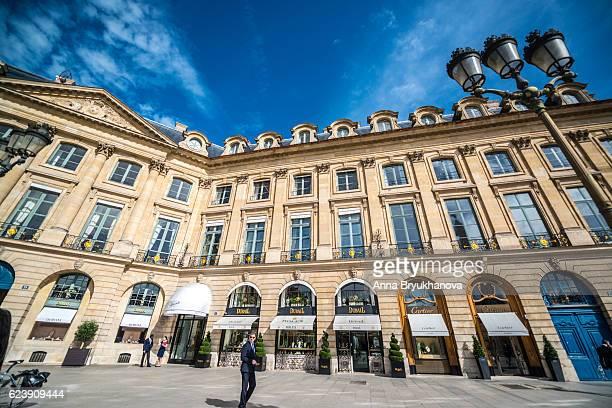 Luxury shops on Place Vendome, Paris, France