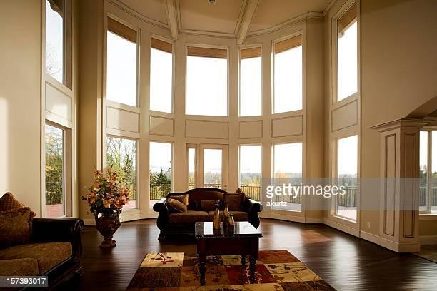 Luxury Showcase Living Room Interior architectural design windows