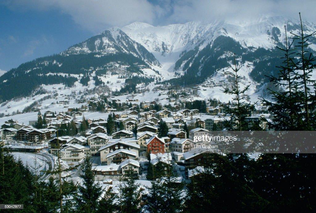 Klosters Ski Resort, Swiss Alps, Switzerland : News Photo