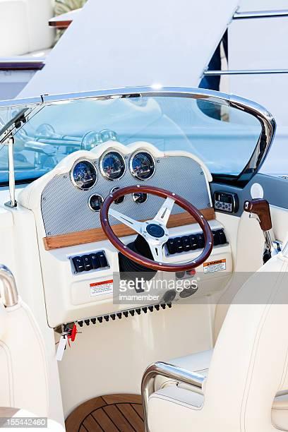 Luxury speedboat control panel