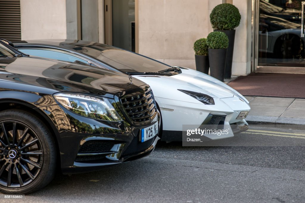 Luxury Sport Cars And Limousines On The Streets Of London Mercedes