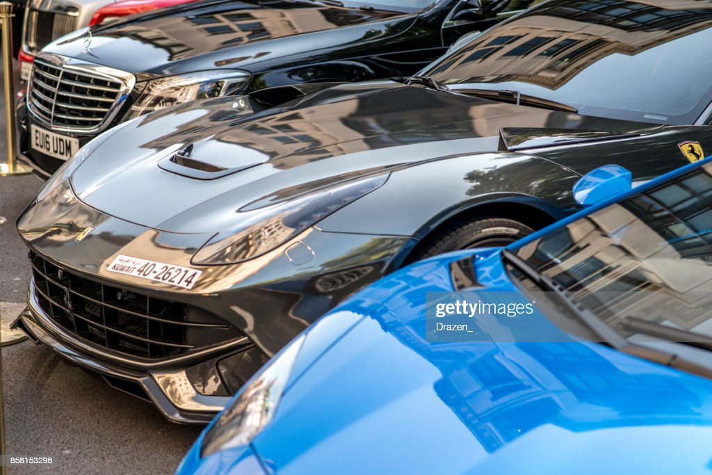 Luxury Sport Cars On The Streets Of London Ferrari And Lamborghini