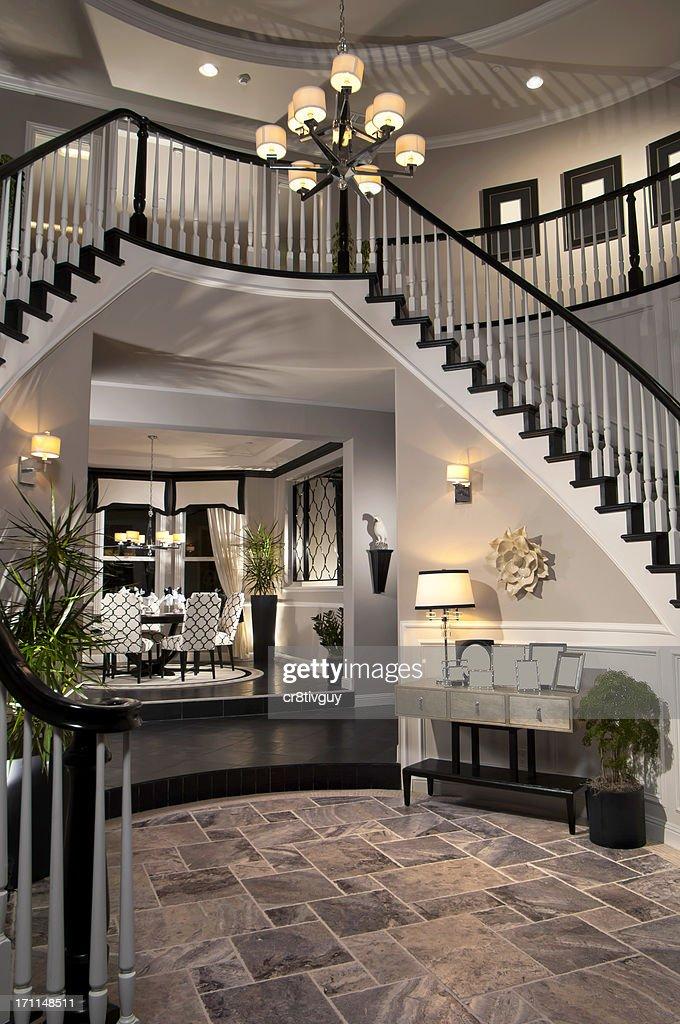 Gi Room Design: Luxury Stair Entry Interior Home Design Stock Photo