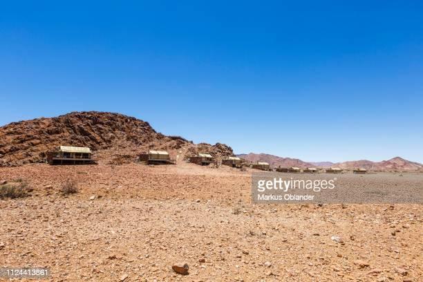 luxury tents in the namib desert, accommodation, elegant desert lodge, sesriem, namibia - セスリエム ストックフォトと画像