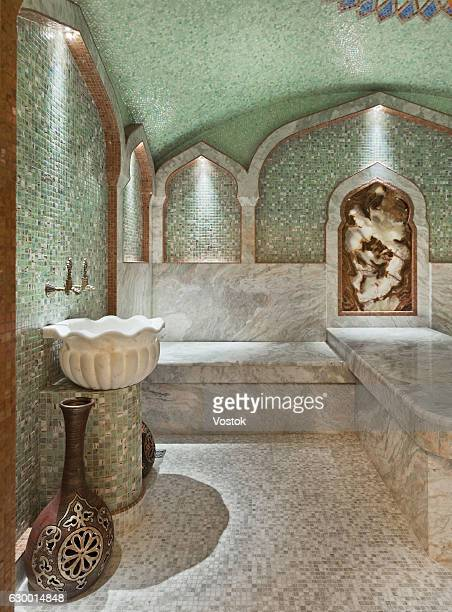 Luxury turkish bath interior in a private house