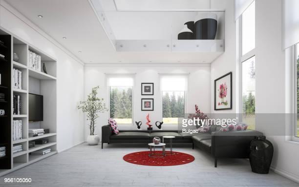 Luxury Two-Level Living Room