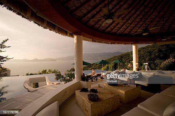 luxury villa in acapulco mexico - penthouse stock pictures, royalty-free photos & images