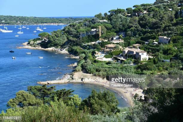Luxury villa in St Tropez on August 20 2018 in SaintTropez France
