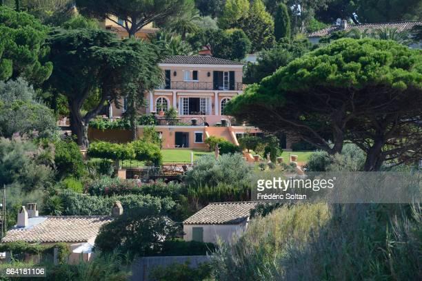 Luxury villa in StTropez on the Cote d'Azur on August 20 2017 in SaintTropez France