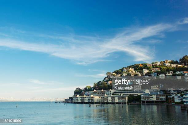 luxury villas at sausalito - township stock pictures, royalty-free photos & images
