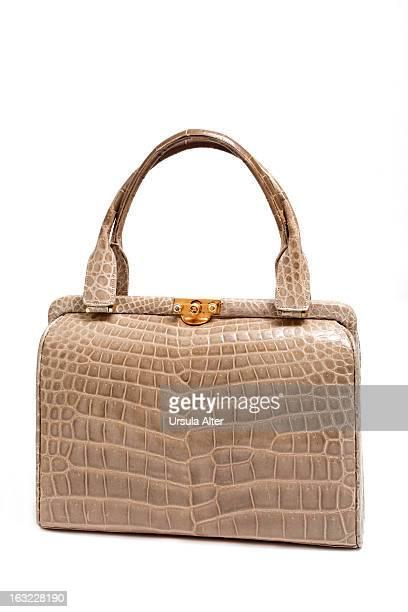 Luxury vintage crocodile leather purse