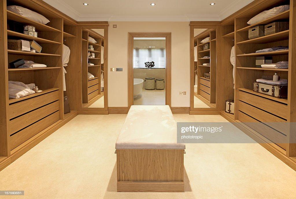 Luxo armário closet : Foto de stock
