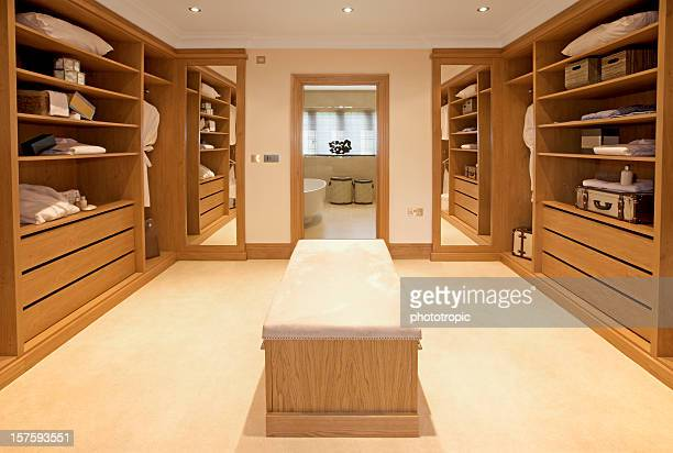 luxury walk-in wardrobe