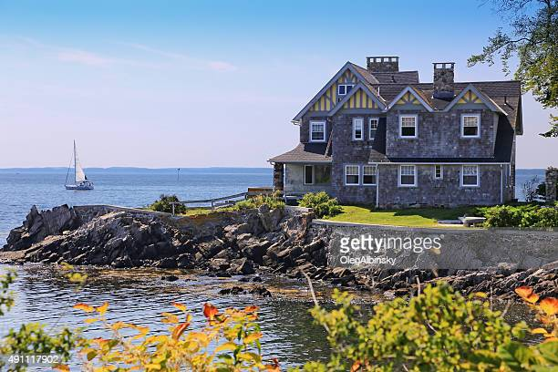 Luxury Waterfront House, Kennebunkport, Maine, New England, USA.